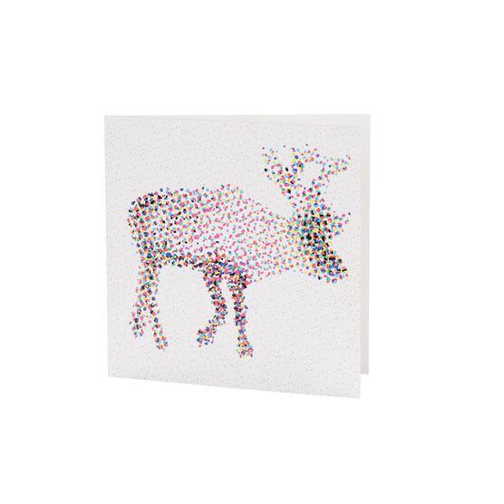 CMYK Reindeer Christmas card (pack of 6)