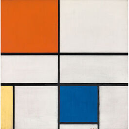 Mondrian: Composition C (No.III) with Red, Yellow and Blue