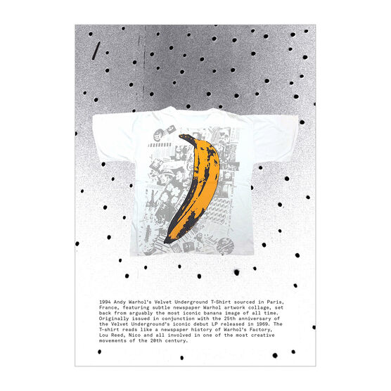 Andy Warhol Zine by Unified Goods banana t-shirt