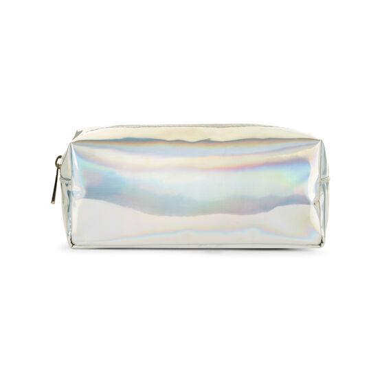 Iridescent zip pouch