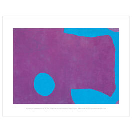 Patrick Heron: Dark Purple and Ceruleum : May 1965 mini print