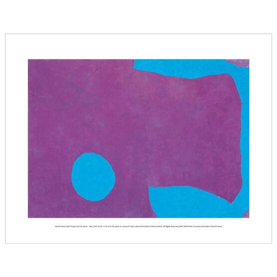 Patrick Heron: Dark Purple and Ceruleum : May 1965 mini print
