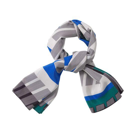 1970 print silk scarf styled