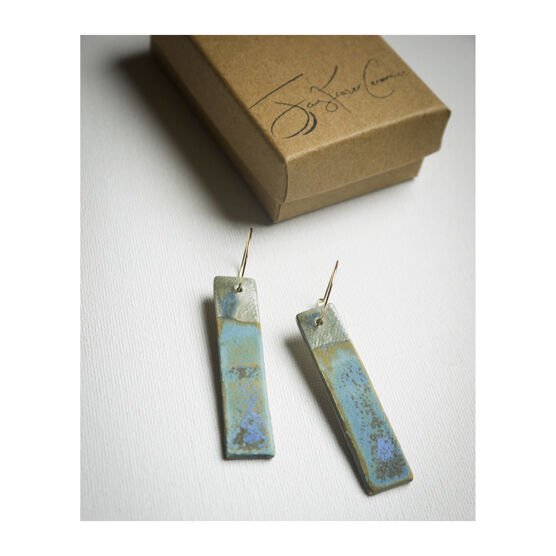 Seascape ceramic earrings