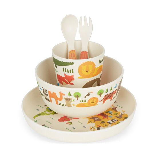 Our World children's bamboo dinnerware set