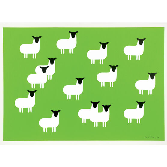 Monro Sheep (unframed print)