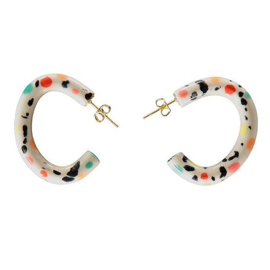 Ceramic Carnival curve earrings