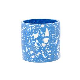 Blue terrazzo plant pot