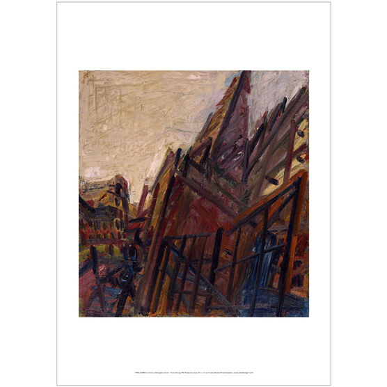 Frank Auerbach: Chimney in Mornington Crescent - Winter Morning poster