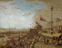 Charles Cundall: Bank Holiday, Brighton