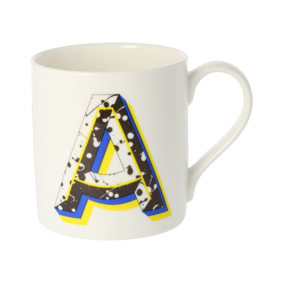 Alphabet of art mug - A