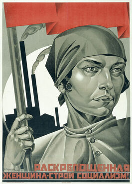 Strakhov: Emancipated Woman: Build Socialism!