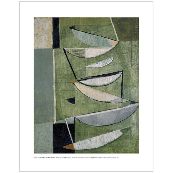 Sir Terry Frost: Green Black and White Movement (mini print)