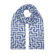 Anni Albers indigo Meander scarf