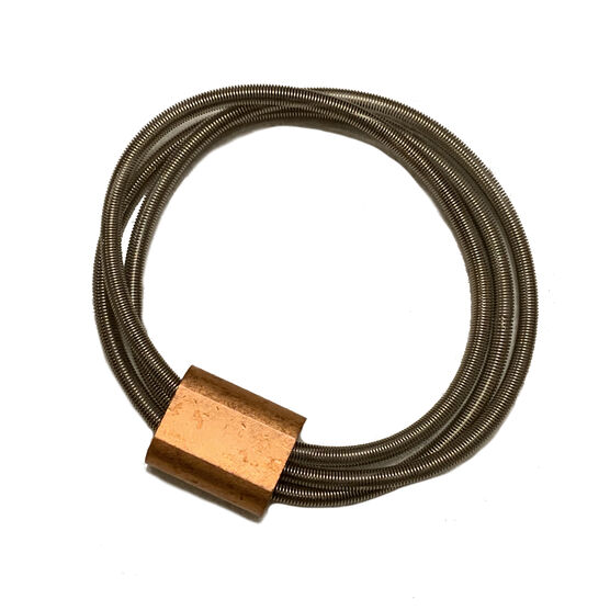 Ferrule spring copper bracelet