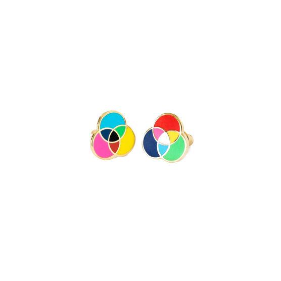 RGB and CMYK earrings