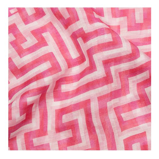 Anni Albers pink Meander scarf