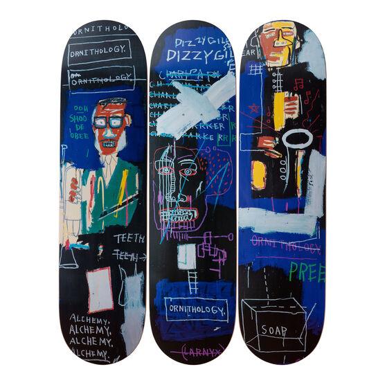 Jean-Michel Basquiat: Horn Players Triptych skateboard