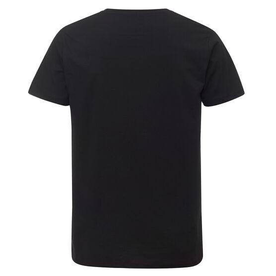 Black back of t-shirt