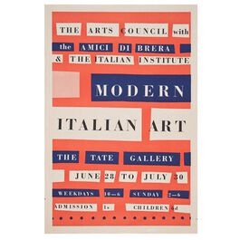 Modern Italian Art (Tate vintage poster reproduction)