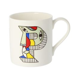 Alphabet of art mug - P