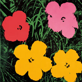 Andy Warhol: Flowers (1 red, 1 pink, 2 yellow)