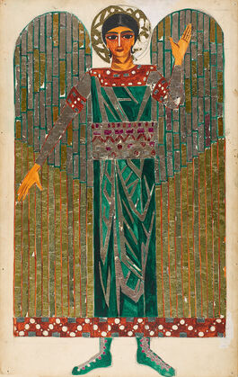 Goncharova: Cherub, Costume design for Liturgy