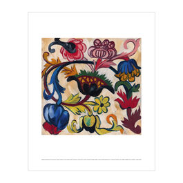 Natalia Goncharova: The Ornament. Flowers (Mother of God triptych) mini print