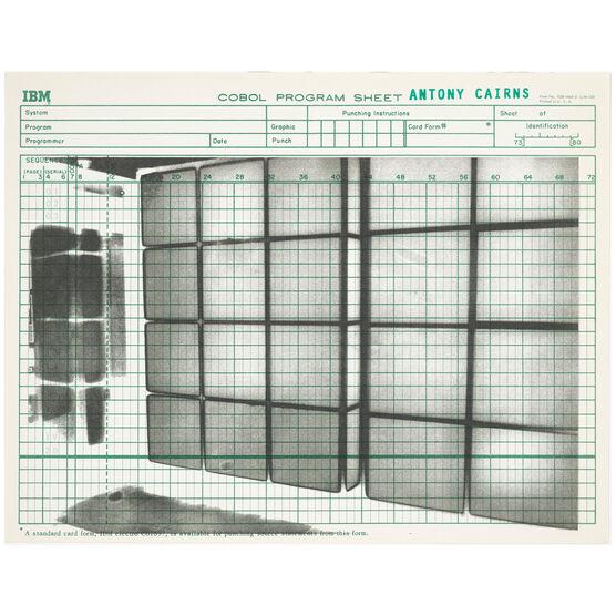 Antony Cairns, TYO3_017, 2019 Screen print edition, 2020 (Green Program Sheet)