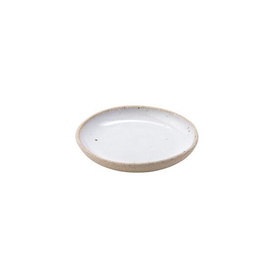 White ceramic salt bowl