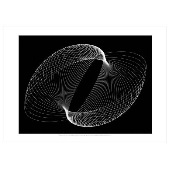 Peter Keetman: Light Pendulum Oscillation poster