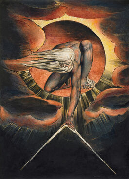 William Blake: Europe Plate I: Frontispiece, 'The Ancient of Days'