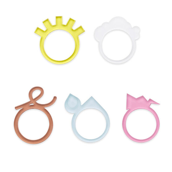 Weather or not set of 5 rings