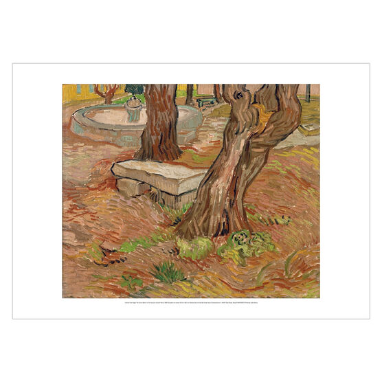Vincent van Gogh: The Stone Bench in the Asylum at Saint-Remy poster