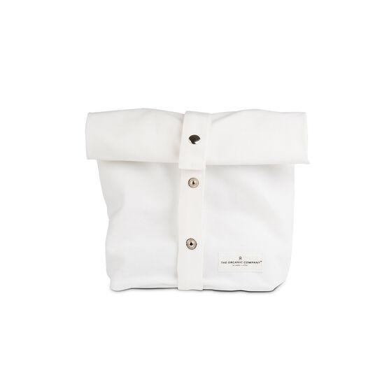 Organic white cotton lunch bag