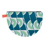 Laura Spring green and blue circle pouch