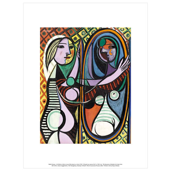 Pablo Picasso: Girl before a Mirror exhibition print