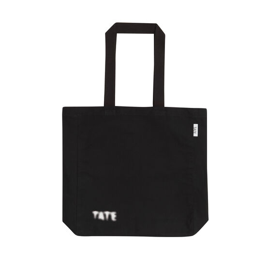 Black bag with Tate dot logo - front