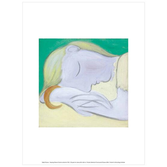 Pablo Picasso: Sleeping Woman exhibition print