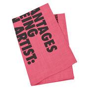 Guerrilla Girls The Advantages of Being a Woman Artist tea towel