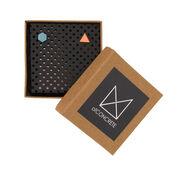 Hexagon and triangle stud earrings