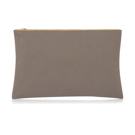 Anni Albers yellow Intaglio make-up bag