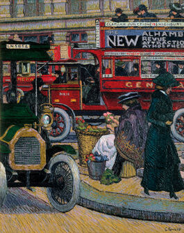 Charles Ginner: Piccadilly Circus