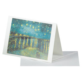 Van Gogh: Starry Night over the Rhône greetings card