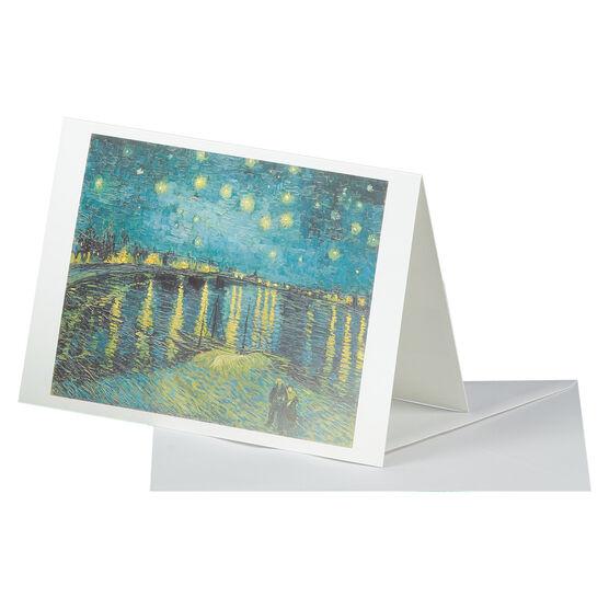 Van Gogh: Starry Night over the Rhône greetings card