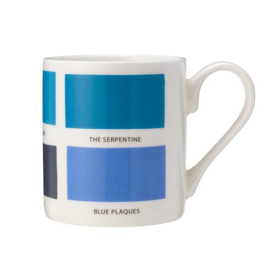 The Colours of London blue mug