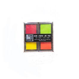Neon chroma ink pad set