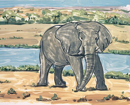 Lisa Milroy: Elephant
