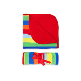 Multi-stripe baby blanket