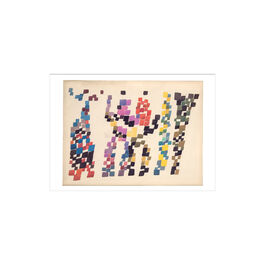 Sophie Taeuber-Arp Quadrangular Strokes Evoking Group of Figures greetings card